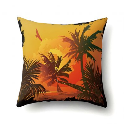 Square Beach Sea Pillowcase Cushion Throw Pillow Cover Printed Living Room Sofa Pillow Case 45*45cm CCA422(10)
