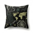 Square World Map Compass Pillowcase Cushion Throw Pillow Cover Printed Living Room Sofa Pillow Case 45 45cm CCA419 12