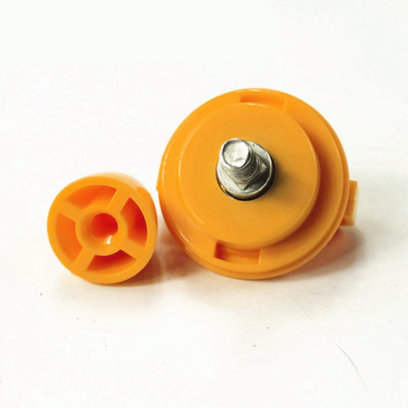 Stainless Steel Bearing Shaft Nut for All Square Hole Running Wheel Hamster Toy Stainless steel nut_Orange