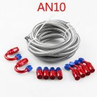 Stainless Steel Braided Oil / Fuel Line / Hose + Fitting / Hose End / Adaptor Kit AN10