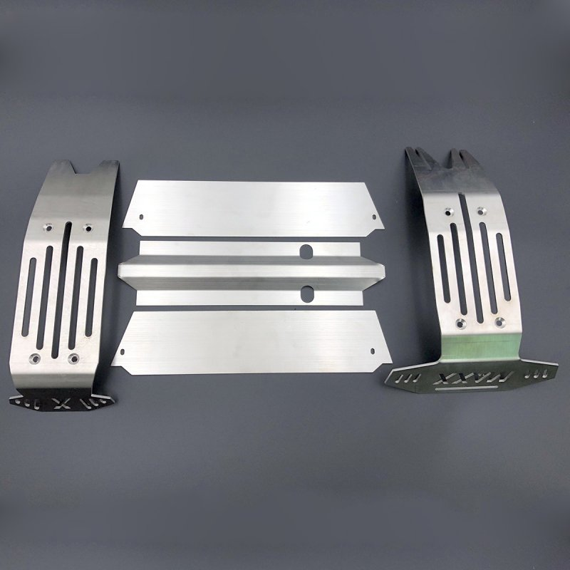 Stainless Steel Chassis Armor Front & Rear Skid Plate for TRAXXAS X-MAXX XMAXX 5pcs