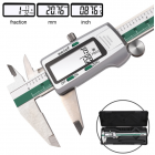Stainless Steel Digital LCD Display Caliper 150mm Fraction MM Inch 0.01mm Precision LCD Vernier Caliper Measuring Tools With Box ET50