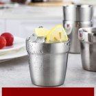 Stainless Steel Double Layer Cup for Water Beer Coffee Drinking