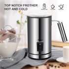 Stainless Steel Electric Milk Frother Automatic Foam Maker Creamer Steamer Heater for Coffee Hot Cold Milk  EU Plug