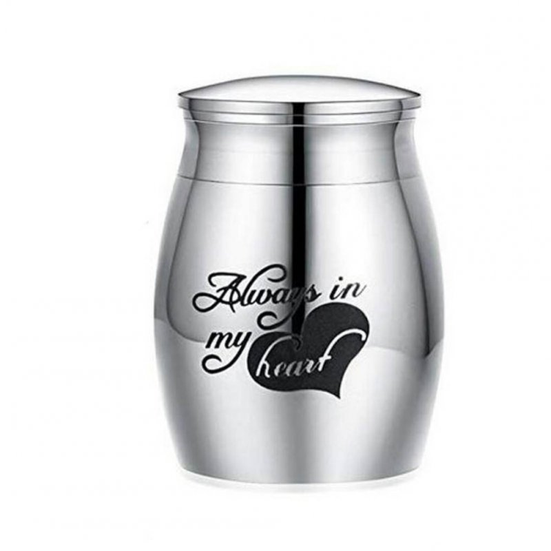 Stainless Steel Funeral Urns with Tree Printing for Pet Dogs Cats Ashes Keepsake Miniature Burial Funeral Urns 40 * 29mm Steel Spade Heart Letter