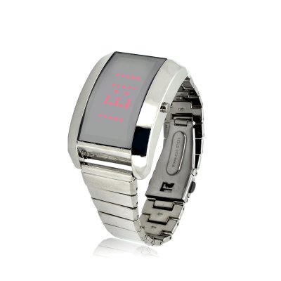 Steel LED Watch w/ Pesonalized Messages
