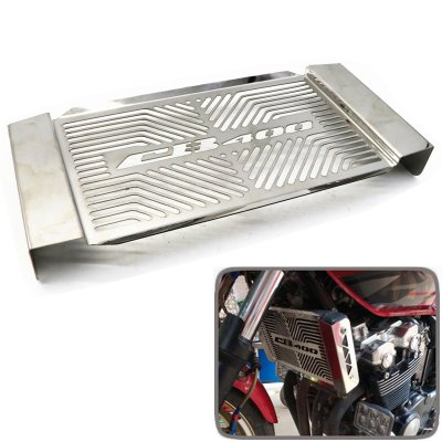 Stainless Steel Motorcycle Radiator Water Tank Guard Protective Cover for HONDA CB400 VTEC 1-5 Generation 99-14  silver