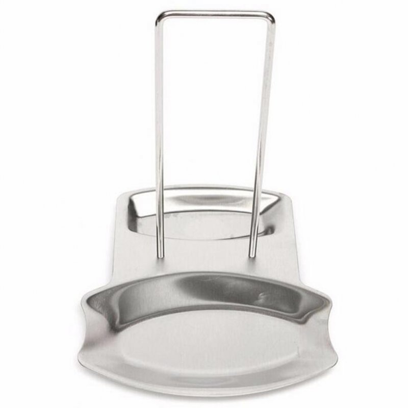 Stainless Steel Pot Cover Rack Spoon Bracket with Drain Pan Multi-function Lid Holder stainless steel