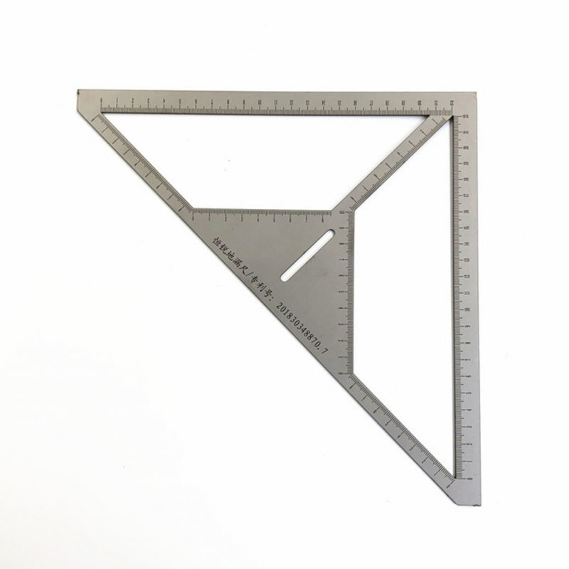 Stainless Steel Ruler Angle Ruler Multifunctional Floor Drain Ruler Carpenter Measuring Tool As shown