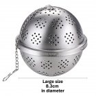 Stainless Steel Seasoning Tea Spice Strainer Separation Net Ball for Soup Fricassee Marinated ball: large (no logo)_304