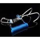 Stainless Steel Spring Rope Reef Hook (Double Hook) Dive Gear Diving Accessories blue