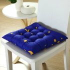 Stars Moon Printing Chair Cushion Seat Pad with Cotton Filling 40X40CM Navy blue