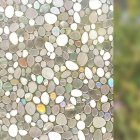 Static 3D Irregular Pebble Refraction Colorful Window Film for Home Office 45x100cm