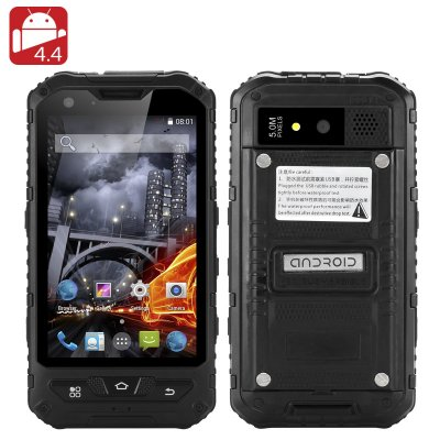4 Inch Waterproof Rugged Smartphone (Black)