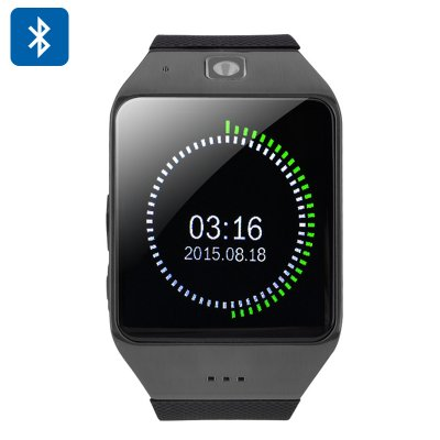 Uhappy UW1 Bluetooth Smartwatch (Black)