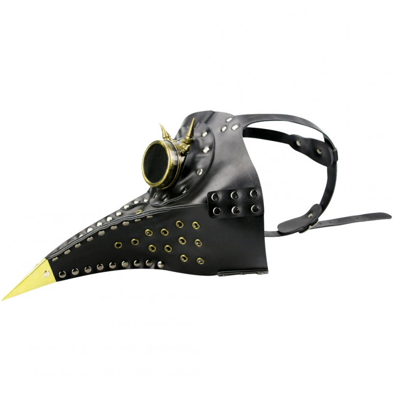 Steampunk Style Beak Bird Mouth Mask for Halloween Party Cosplay Prop Accessories