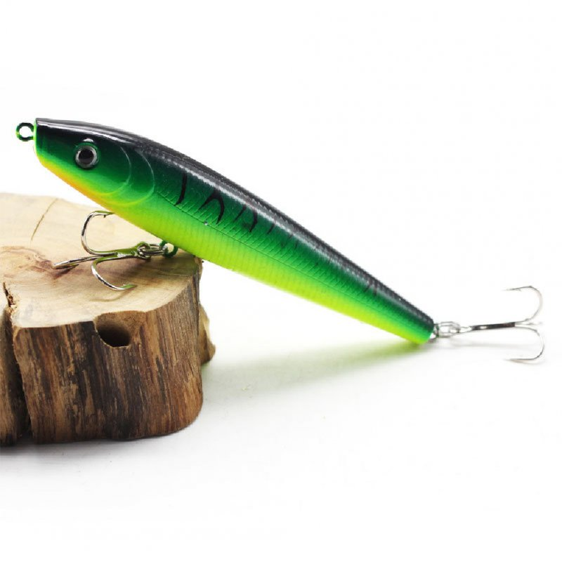 Stickbait Sinking Pencil Pike Fishing Lure 9cm 8.6g Artificial Bait Hard Lures For Fishing Fish Goods Tackle 3#Green tiger pattern_Floating pencil water bird 9cm8.6g