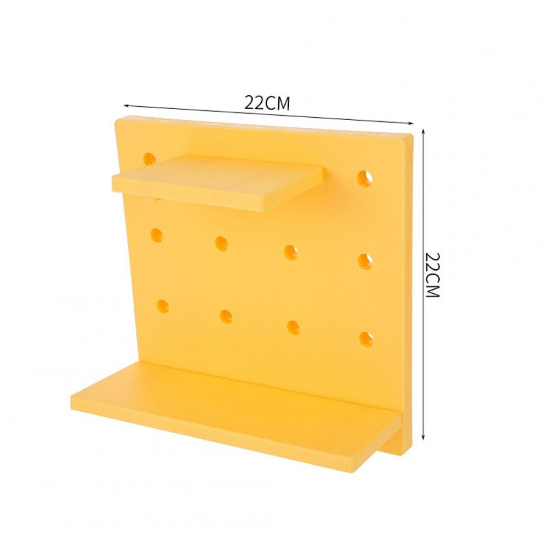 Storage Rack Living Room Kitchen Bedroom Partition Wall Hangers Storage Shelf yellow