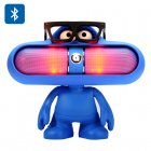 Stream your favourite tunes from the cool Dude Doll Bluetooth Speaker  coming with LED light  FM and handsfree function