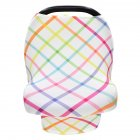 Stretchy Baby Car Seat Cover Multiuse - Nursing Breastfeeding Covers Rainbow Car Seat Canopies  checkerboard_One size
