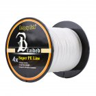 Strong Braided 300m/328yds 4 Braid Single Color Fishing Line - White 0.30mm-35lb