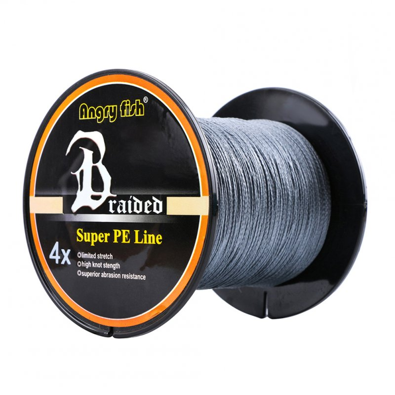 Strong Professional 300m/328yds 4 Braid Single Color Fishing Line - Gray 0.40mm-60lb