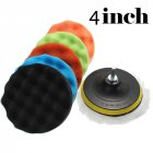 Strong Water Absorption Car Polishing Waxing Grinding Sponge Set Cleaning Accessories - 7pcs