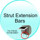 Strut Extension Bars for CVEJS DV708 GREY 7 Inch LCD Car Headrest DVD Player