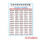 Student Piano Chord Practice Chart Beginner Learning Fingering Poster Teachers Music Lessons Teaching Guide Chart S: 21*28cm_OPP bag packaged
