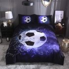 Stylish 3D Sports Theme Bed Set Quilt Cover Pillowcases Housewarming Gift Decoration 3PCS/Set