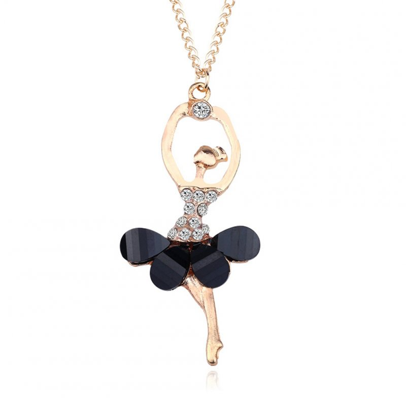 Stylish Ballerina Girl Necklace