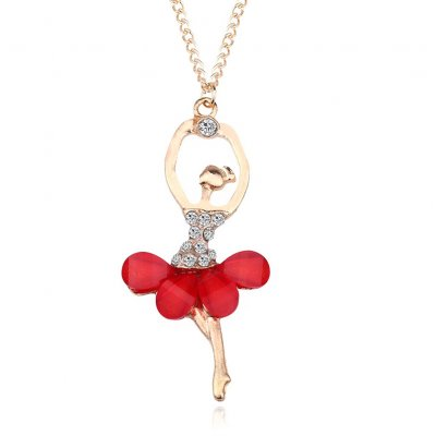 Stylish Necklace with Ballerina