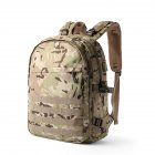 Stylish Male Casual Backpack Nylon Travel Camouflage Computer Bag Shoulder Bag Camouflage green