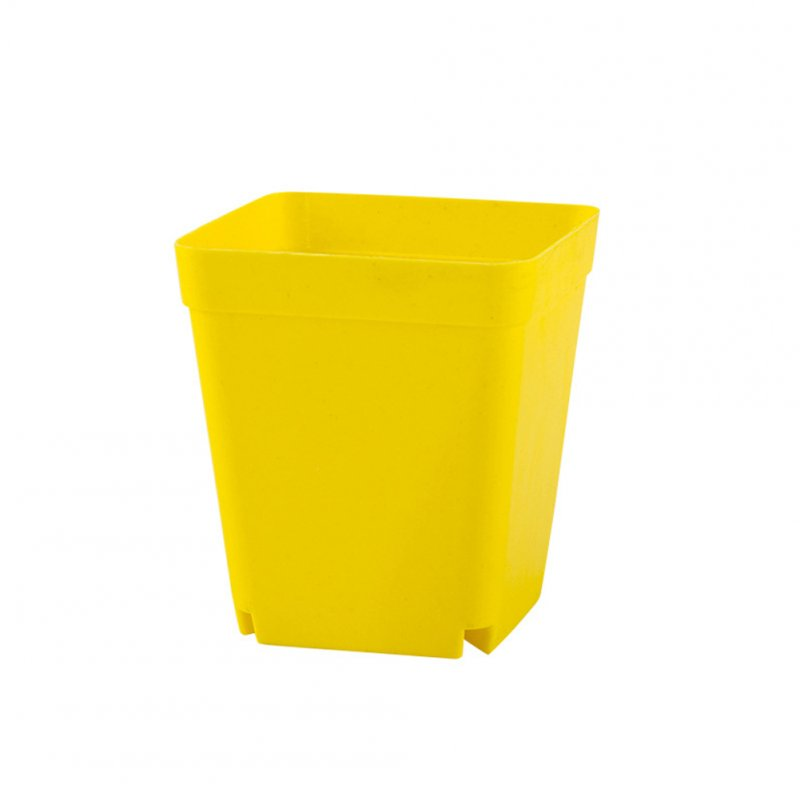 Stylish Solid Color Plant Pots Flowerpot Table Balcony Plant Pot Home Office Decoration  yellow_7*7