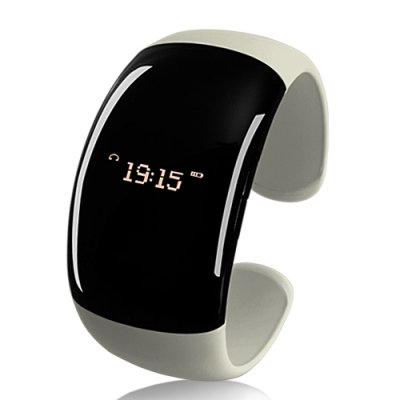 Bluetooth Bracelet with Time Display White