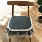 Summer Seat Pad Cover Ice Silk Lace Brim Vine Cool Dining Chair Cushion 40 45cm Dark green 40   45cm