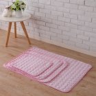 Summer Solid Color Cooling Sleeping Mat for Pet Cats Dogs Nest Pink_70*55cm