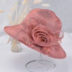 Summer Straw Hat for Women Flowers Sun-shade Solid Color Ultraviolet-proof Wide Brim Hat Foldable Beach Hat Wine red