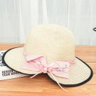 Summer Straw Hat for Women Sun shade Seaside Ultraviolet proof Beach Hat Foldable Hat Split beige