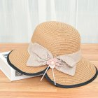 Summer Straw Hat for Women Sun-shade Seaside Ultraviolet-proof Beach Hat Foldable Hat Split khaki
