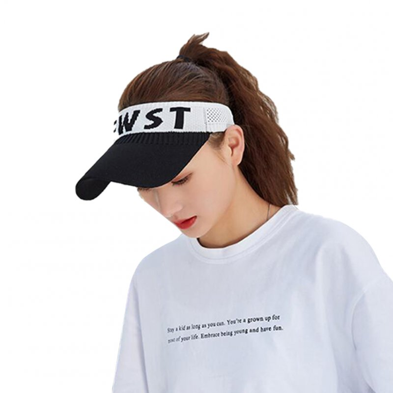 Summer Sun Hat Visor Cap Outdoor Sports Sunscreen Top Hat black