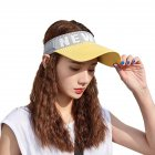 Summer Sun Hat Visor Cap Outdoor Sports Sunscreen Top Hat yellow