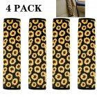 Sunflower Seat Belt Shoulder Pads  Car Accessories for Women Girl 4pcs