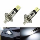Super Bright 6500K 24-SMD-4014 2x H1 LED Replacement Bulbs for Car Fog Lights Driving Light for Auto Led Replacement
