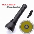 Super Brightness Diving Flashlight Cree XHP70 LED Waterproof Dive Flashlight Yellow/White Light white light