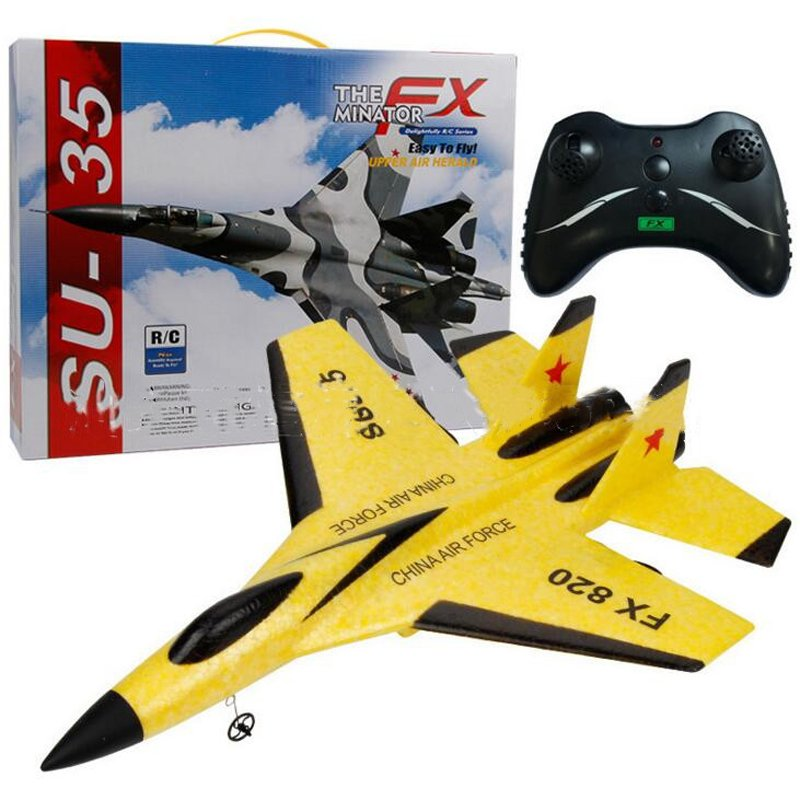 Super Cool RC Fight Fixed Wing RC Drone FX-820 2.4G Remote Control Aircraft Model RC Helicopter Drone Quadcopter Hi USB 3C yellow