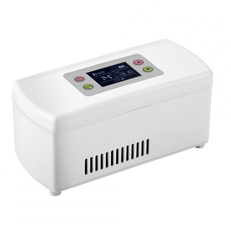 Insulin Fridge Portable Intelligent Car Mimi Rechargeble Cooler Medicine Storage Box white