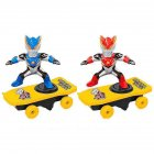 Super Heroes Spiderman Ultraman Stunt Scooter Skateboard Toys Dance Hero Light Music 360 Rotation Toys for Boys Ultraman Scooter
