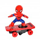 Super Heroes Spiderman Ultraman Stunt Scooter Skateboard Toys Dance Hero Light Music 360 Rotation Toys for Boys Large scooter