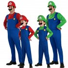 Super Mario Costume Halloween Costumes Cospaly Parent-child Role Play green_Adult S code